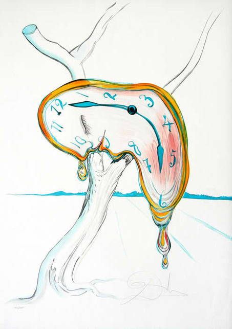 ", '""Tear of Time"" Hand Signed Salvador Dali Lithograph,' 1931, Elena Bulatova Fine Art"