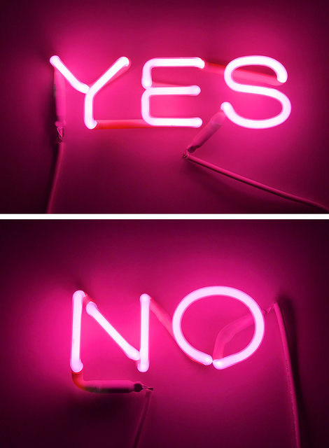 , 'YES / NO (pink),' 2018, The Untitled Space