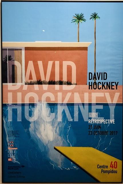 , 'A Bigger Splash - Large Pompidou Exhibition Poster.,' 2017, Mr & Mrs Clark's