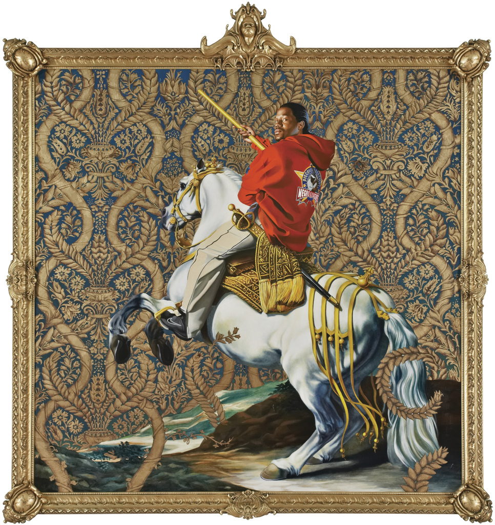 Kehinde Wiley, Equestrian Portrait of the Count Duke Olivares, 2005, Oil on canvas, Courtesy of Rubell Family Collection, Miami