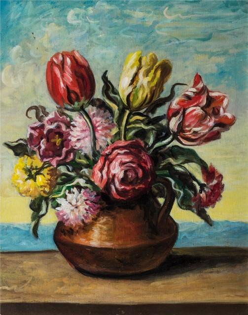 Giorgio de Chirico, 'Vase with flowers', 1951, Finarte
