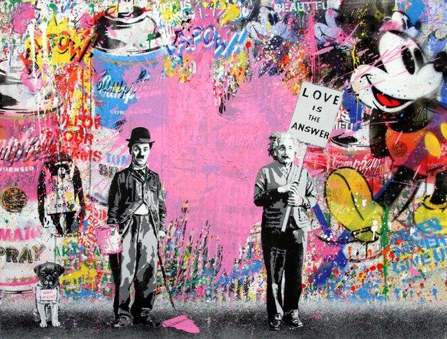 Mr. Brainwash, 'Juxtapose (Pink Heart)', 2017, Denis Bloch Fine Art
