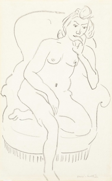 , 'Femme nue assise dans un fauteuil ,' 1912-1913, Bernard Jacobson Gallery