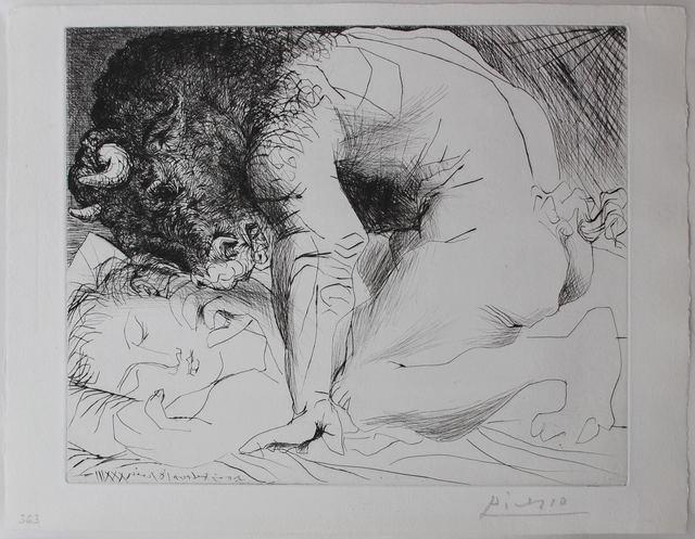 , 'Minotaure découvrant une femme endormie,' 1933, Galerie Philippe David
