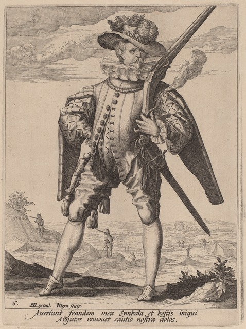 Jacques de Gheyn II after Hendrik Goltzius, 'Musketeer', 1587, National Gallery of Art, Washington, D.C.