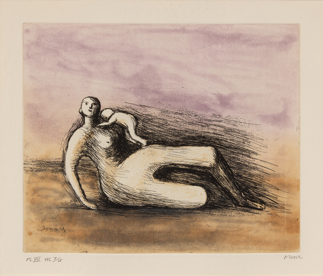 Henry Moore, 'Mother and Child VII', 1983, Print, Etching, aquatint and roulette, Hindman