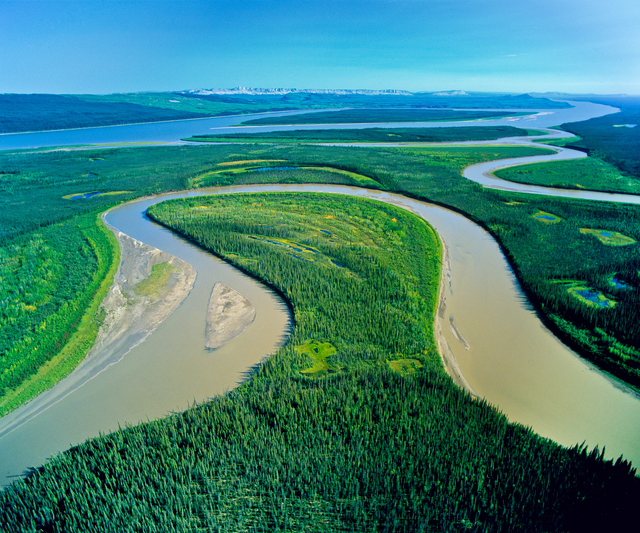 , 'Confluence of the Carcajou River and Mackenzie River,' 2005, 555 Gallery