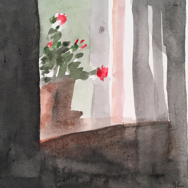 , 'Geranium In Window,' 2017, Clyde Hogan Fine Art