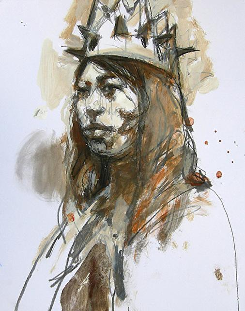 , 'Memorial to Mr. Morris / woman's head, drawing painting ,' 2010, Andra Norris Gallery