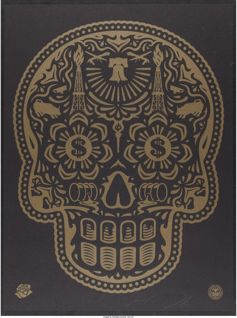 Shepard Fairey, 'Power & Glory Day of the Dead Skull', 2008, Heritage Auctions