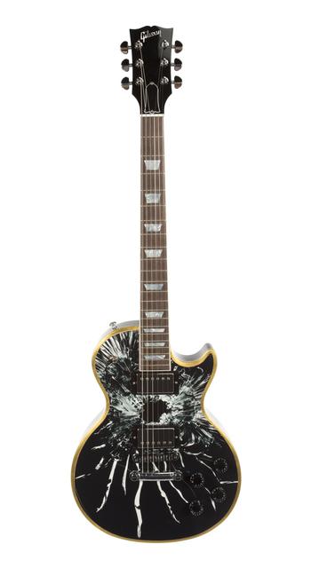 Robert Longo, 'Les Paul Guitar with Artwork by Robert Longo', Julien's Auctions