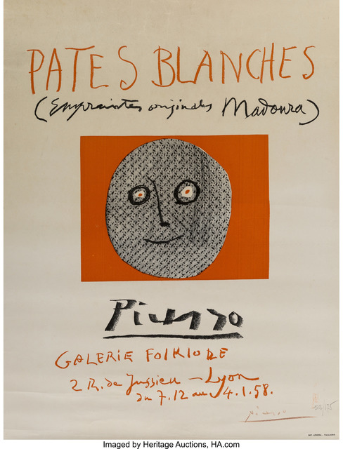 Pablo Picasso, 'Pates blanches', 1958, Heritage Auctions