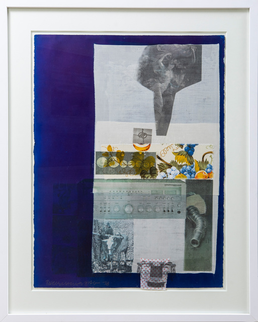 Robert Rauschenberg, 'Scheme', 1978, Mixed Media, Solvent transfer & fabric collage on paper, Evelyn Aimis Fine Art