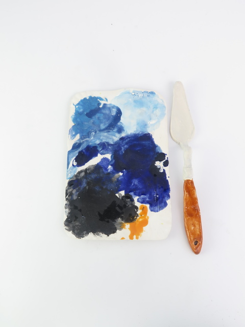 , 'Sausage papertray palette (blue),' 2015, V1 Gallery