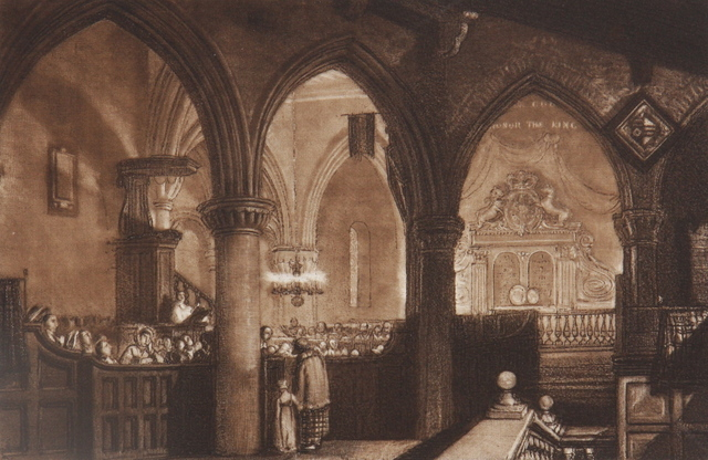 , 'Interior of a Church,' 1819, Gerrish Fine Art