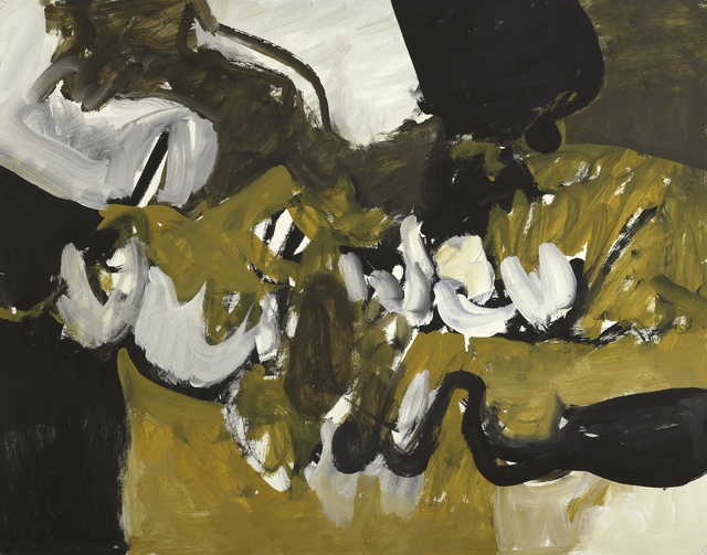 , 'Untitled (Black, White, and Brown VIII),' ca. 1955, Berry Campbell Gallery
