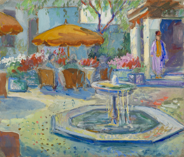 , 'Fountain with Orange Umbrella,' ca. 1927, Childs Gallery