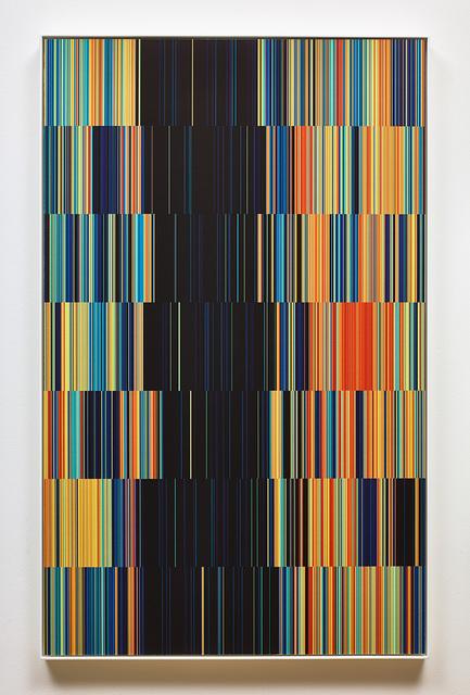 , 'SunDial:NightWatch_Drawing for Tapestry_ One random week in 2014,' 2016, SCHEUBLEIN + BAK