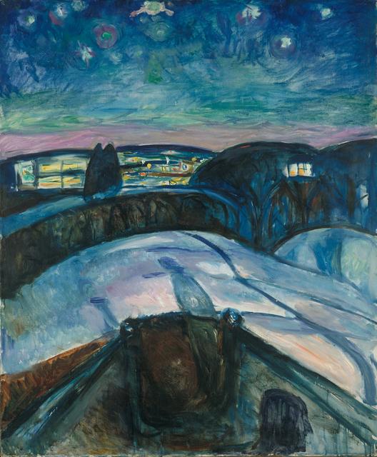 Edvard Munch, 'Starry Night', 1922, Van Gogh Museum