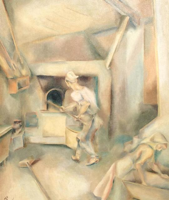 John Barber, 'Bread Bakers', ca. 1930, Painting, Oil on canvas, Caldwell Gallery Hudson