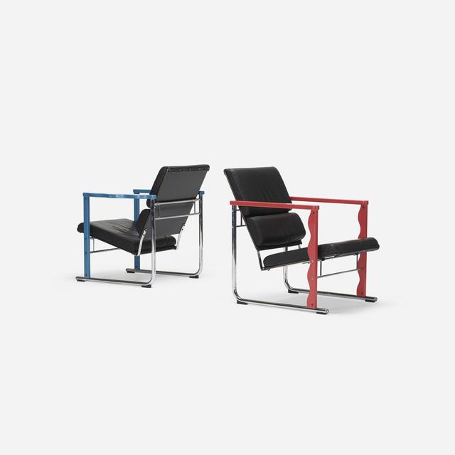 Yrjö Kukkapuro, 'Experiment lounge chairs, pair', 1982, Wright