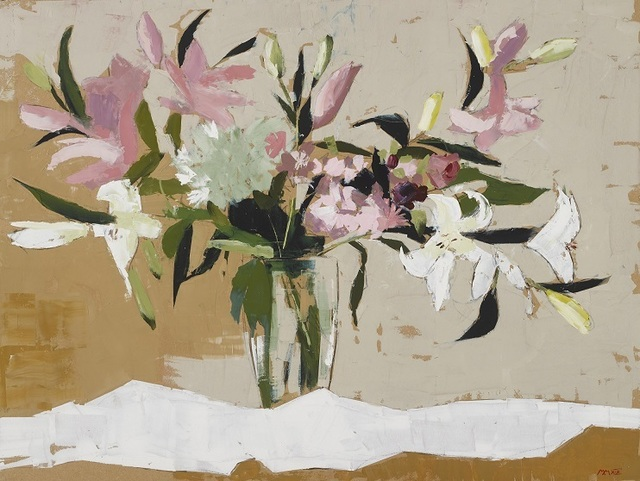 , 'Pink and White Lillies,' 2019, SOL Art Gallery