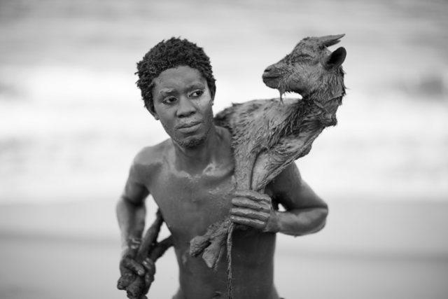 , 'A boy with a goat, Faith Series ,' 2018, Ed Cross Fine Art