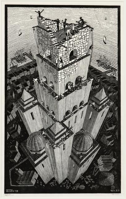 Maurits Cornelis Escher, 'Tower of Babel', 1928, Print, Woodcut on fine Japan paper, Skinner