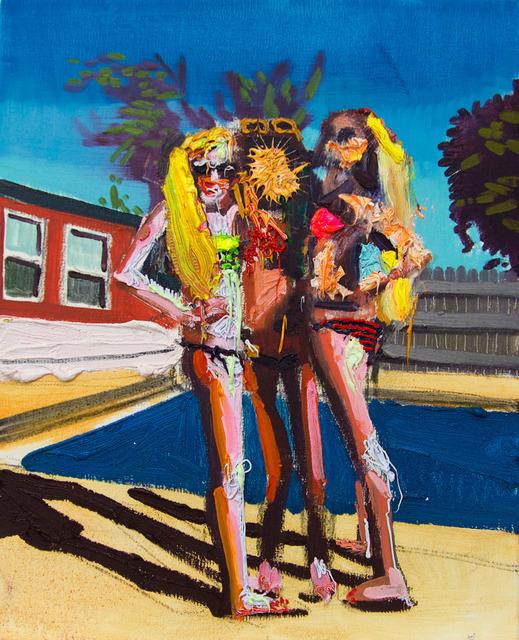 , 'Untitled (three girls by a pool),' 2018, Galerie C.O.A