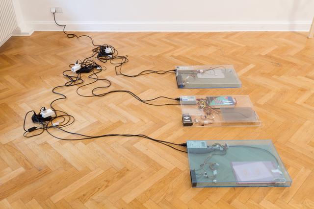 , 'dust, scraper, fan .2 (working title),' 2015, Barbara Seiler