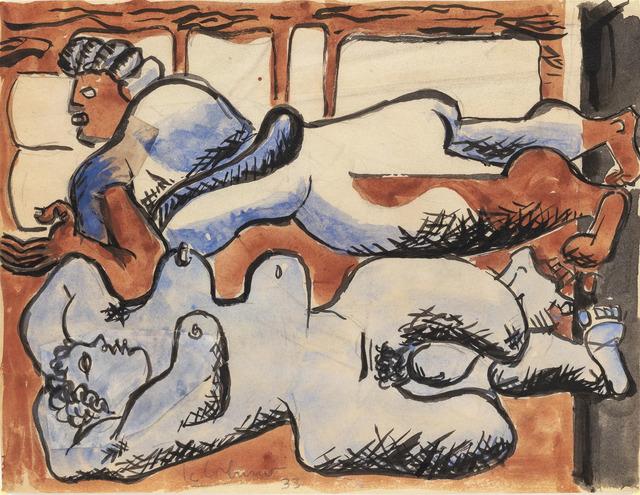 , 'Deux femmes étendues sur un lit,' 1933, MARUANI MERCIER GALLERY
