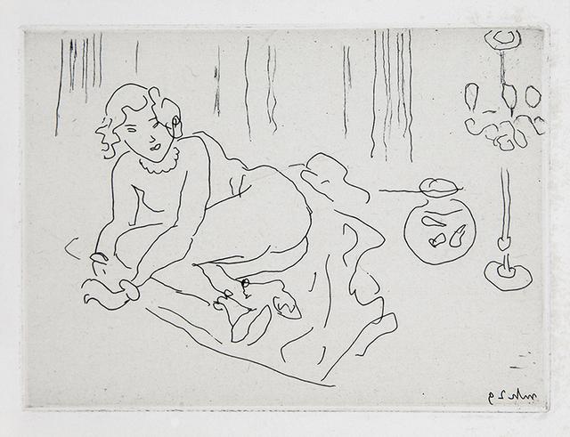 , 'Nu couché. Intérieur à la lampe vénitienne,' 1929, Lyndsey Ingram