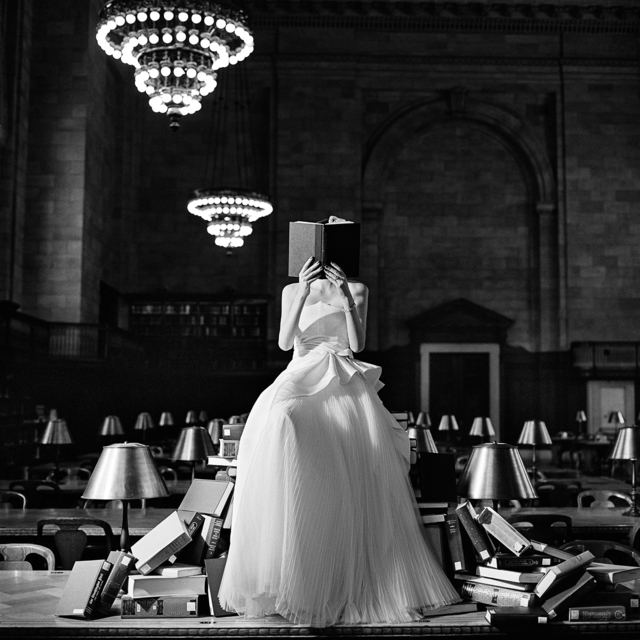 Rodney Smith, 'Flynn Reading on a Pile of Books, New York, NY', 2012, Gilman Contemporary