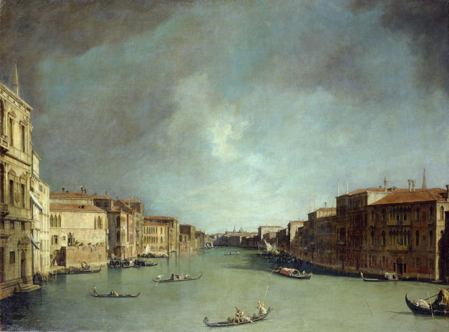 , 'The Grande Canal in Venice near Rialto Bridge to the North,' 1725/26, Belvedere Museum