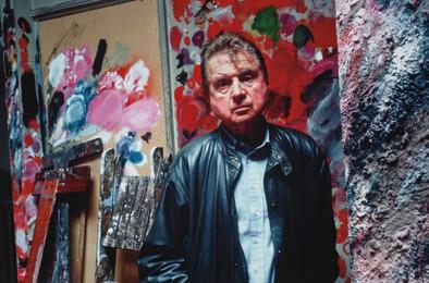 Francis Bacon in his studio, Reece Mews