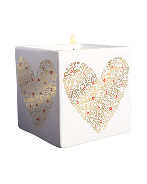 Keith Haring, 'Gold Pattern Heart Square Perfumed Candle ', 2018, A.Style