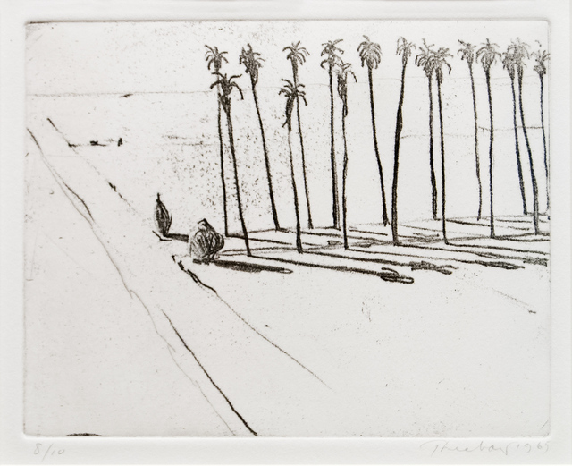 Wayne Thiebaud, 'Palm Road', 1985, Paul Thiebaud Gallery
