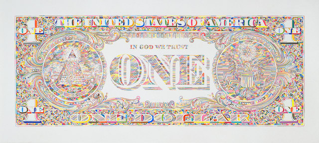 , 'Untitled (dollar print, back),' 2011, Luhring Augustine