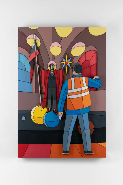 Dmitri Aske, 'The Banner of Earthly Bread', 2020, Mixed Media, Plywood, spray paint, Ruarts Gallery