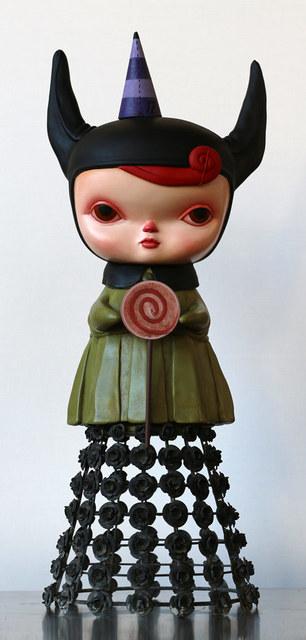 , 'Bat-hooded Lizzie with Lollipop,' 2015, AFA Gallery