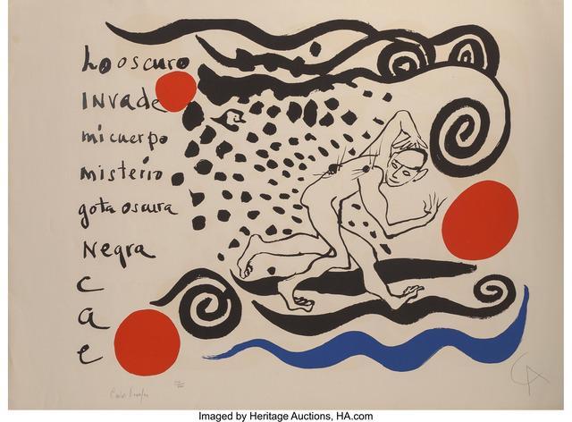 Alexander Calder, 'Lo oscuro invade mi cuerpo', 1970, Heritage Auctions