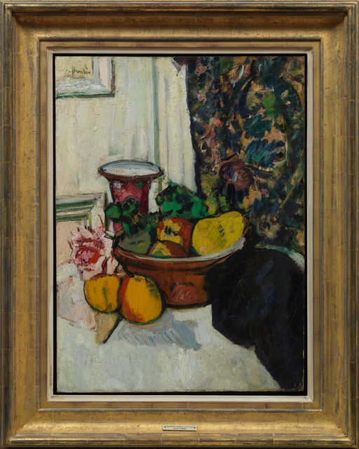 , 'Still Life with Fruit, a Rose and a Pink Vase,' 1925, Messums