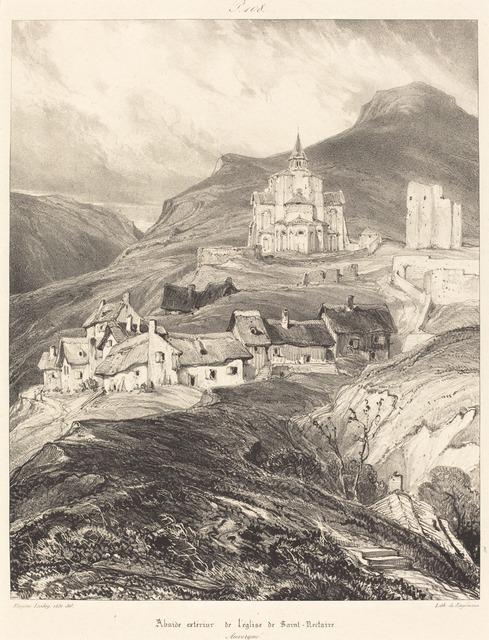 Eugène Isabey, 'Abside de l'église de Saint-Nectaire', 1831, National Gallery of Art, Washington, D.C.