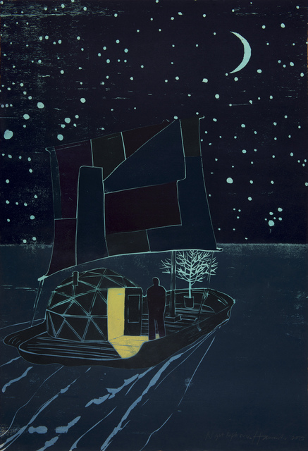 Tom Hammick, 'Night Raft', 2013, Print, Edition variable woodcut printed in colours., Lyndsey Ingram