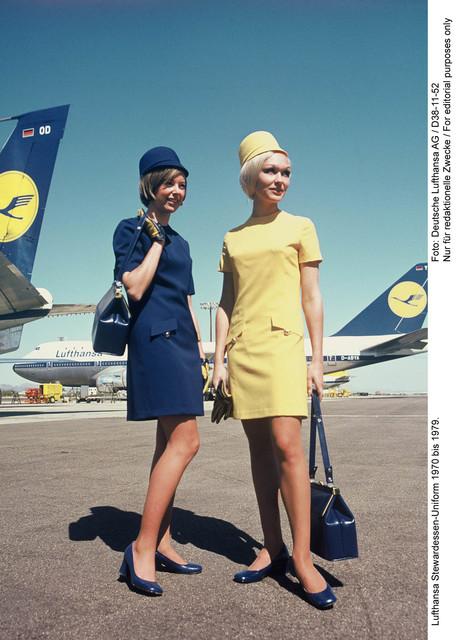 , 'Flight attendant uniforms, Lufthansa,' 1970, MAKK – Museum für Angewandte Kunst Köln