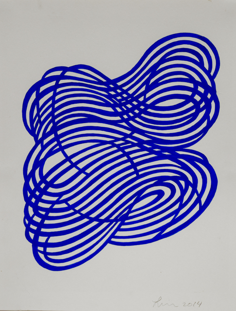 , 'Gouache Wall Drawing (blue),' 2017, Robischon Gallery