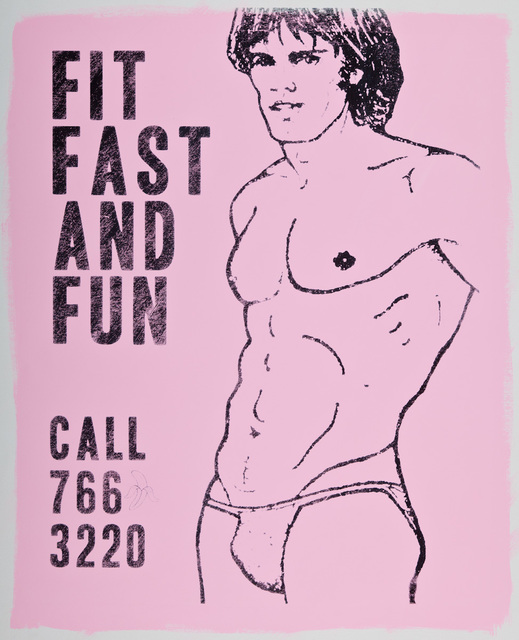 , 'Fit Fast and Fun (Pink),' 2016, Lawrence Alkin Gallery