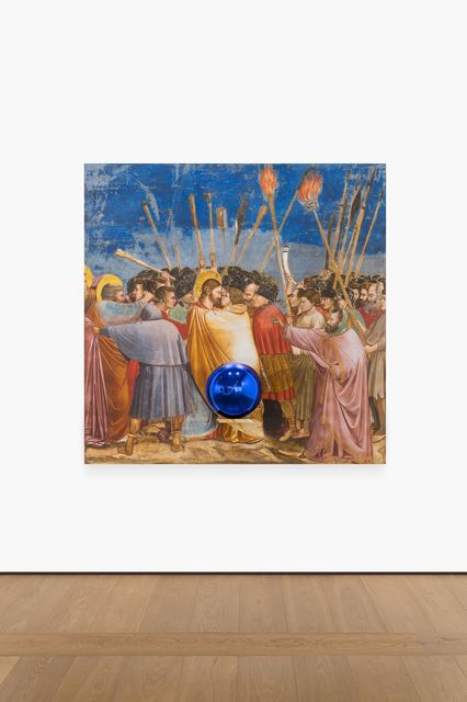 , 'Gazing Ball (Giotto The Kiss of Judas),' 2015-2016, Almine Rech