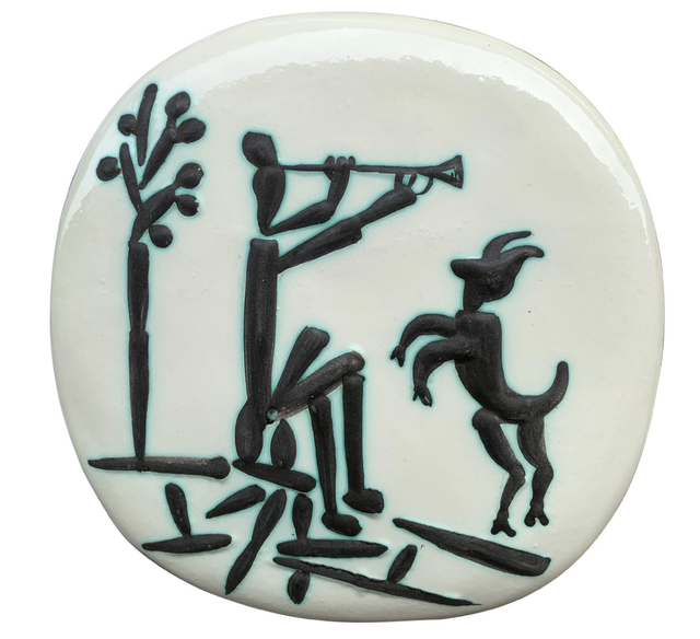 Pablo Picasso, 'Joueur de flûte et chèvre', 1956, BAILLY GALLERY