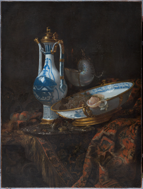 , 'Still life with Ewer and Basin, fruit, Nautilus Cup and other object,' ca. 1600, Rijksmuseum